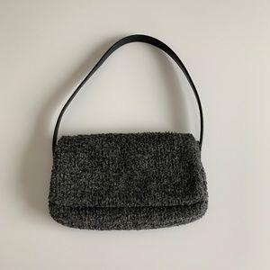 Ralph Lauren Small Gray Wool Purse